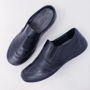 Vionic Black Addison Slip On Flat Loafer Size 8